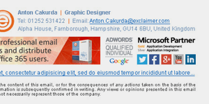 Email signature images can provide an extra stamp of authority.