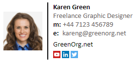 Example of a freelancer email signature