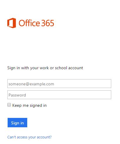 Login into Office 365 to create your email signature.