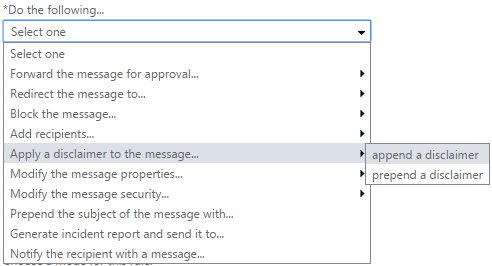 Select where the Office 365 email signature should appear in a message.