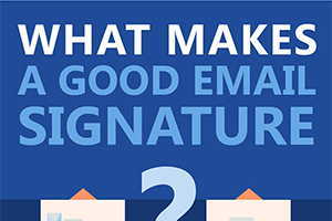 Infographic - good email signature
