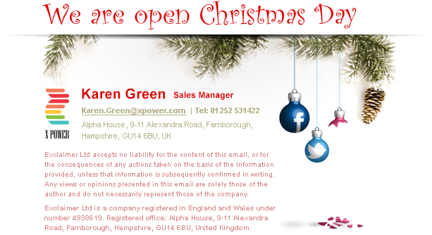 Tell customers when you'll be open over the festive season
